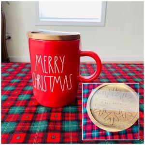 Rae Dunn RED MERRY CHRISTMAS mug and top